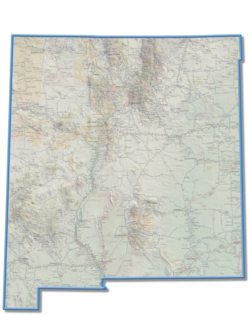 New Mexico Space Trail Map